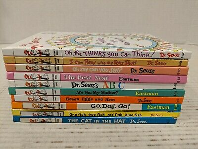 Lot of 10 Dr Seuss Hardcover Books Beginner I Can Read It Books Free Shipping