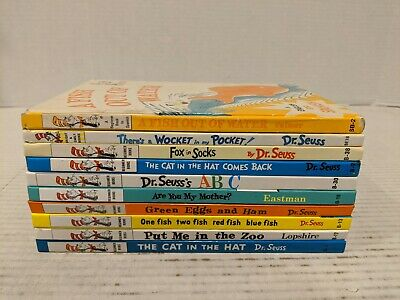 Lot of 10 Dr Seuss Hardcover Books Beginner Bright and Early Books Free Shipping