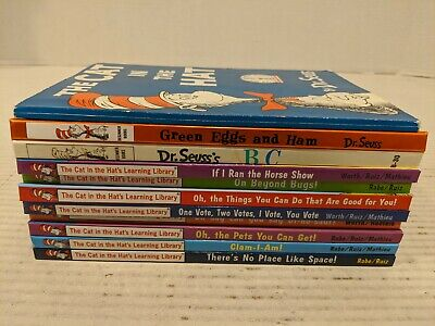 Lot of 11 Dr Seuss HC/PB Mix Books Beginner Learning Library Books Free Shipping