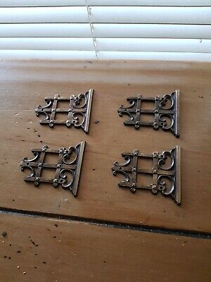 Antique Decorative Brass Furnishings, for placement at hinges.
