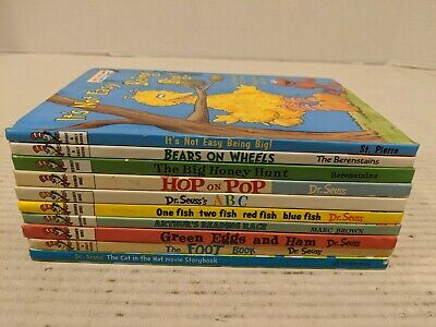 Dr Seuss Bright & Early and Beginner Books Hardcover Set Lot of 10 Free Shipping