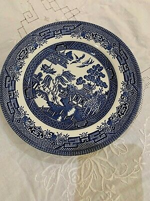 Churchill Blue Willow China Plate x4