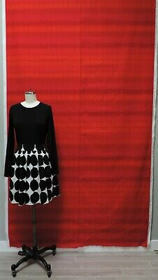 MARIMEKKO Rasymatto Red Polka Dot Print Pattern Cotton Fabric almost 3 yards 103