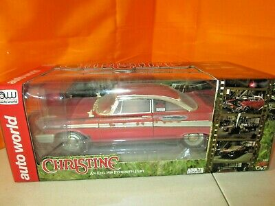 AutoWorld CHRISTINE 1958 Plymouth Fury UNRESTORED Version LE 1:18 Diecast in Box