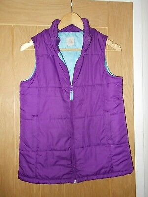 Girl's LANDS END purple & blue Gilet Body Warmer (LG) Age 12 to 13 Years