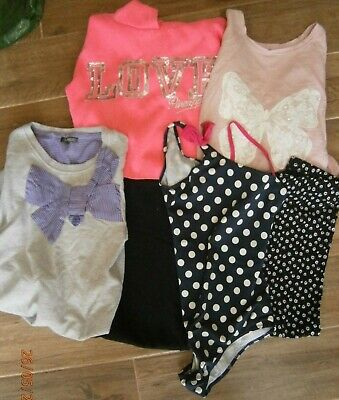 Girls clothes bundle age 11-12 years x6 items inc swimsuit see photos (lot 12)