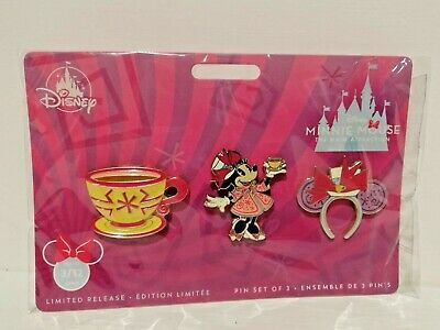 Disney Store Minnie Mouse The Main Attraction Marzo Mad Tea Party Alice Pin 3/12
