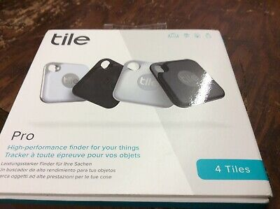 **BRAND NEW** TILE Pro 2020 Bluetooth TRACKER And FINDER White & Black - 4 Pack