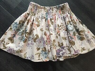 Next Girls Dusky Pink  Floral Skirt Age 5