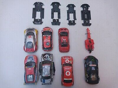 SCX SCALEXTRIC ANALOGICO CHASIS AND BODYWORK x 5 WITH MOTOR