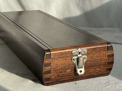Gorgeous Old Vintage Solid Wood Candle/Architect/Draftsman Dovetail Joint Box