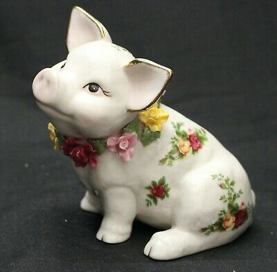 Royal Albert Old Country Roses Piggy Bank Mint Condtion