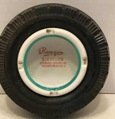 Rare Ranger Bicycles Tire Ashtray