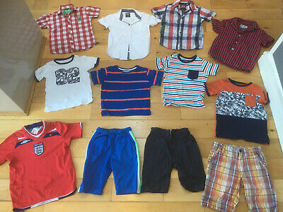 12 X Boys Summer Clothes Bundle Age 5-6-7 Years Shorts Shirts Next Zara Ruffins
