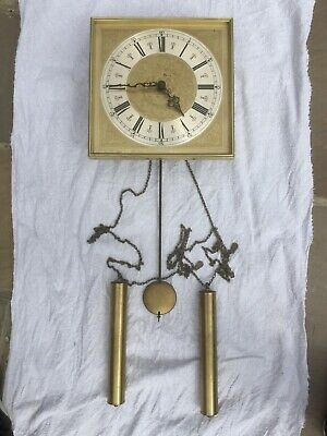 Wall Clock, German Made, E . SCHMECKENBECHER Pendulum And Weights