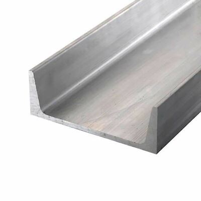 "6061-T6 Aluminum Channel, 6"" x 1.95"" x 48 inches"