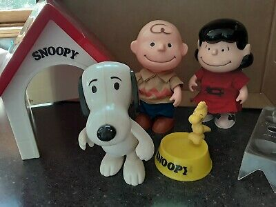 Vintage Lot 6 Peanuts Snoopy Charlie Brown Lucy Woodstock House Hong Kong UFS