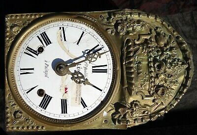 Antique Birdcage  French Comtoise  Clock Movement Looks Medieval-Gothic
