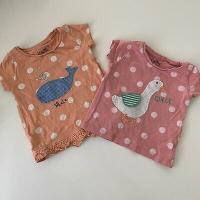 3-6 MONTHS GIRLS CLOTHES T-shirta NEXT Baby Summer Tops Bundle