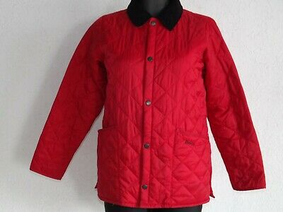 Barbour girls long sleeve red parka quilted jackets size L  10 11 years