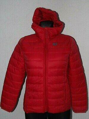Abercrombie & Fitch girls red parka quilted jackets with hoody size 13  14 years