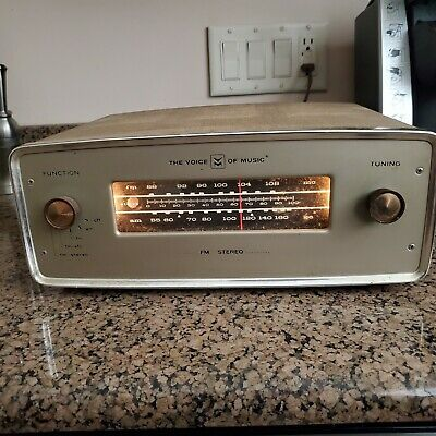 The Voice of MusicAM- FM Stero Tuner TUBES Model 1465.2 Tested Works Great RARE