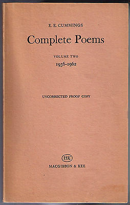 COMPLETE POEMS 1917-35/1936-62 by EE CUMMINGS (1968) 2-VOL PROOFS VERY RARE NEW