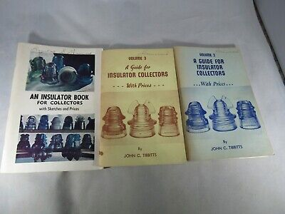 Three vintage Guides for Insulator Collectors With Prices and Illustrations