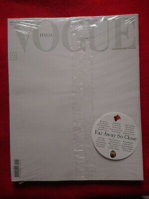 Vogue Italia 836 White Cover Aprile 2020 Far Away So Close Limited New Sealed