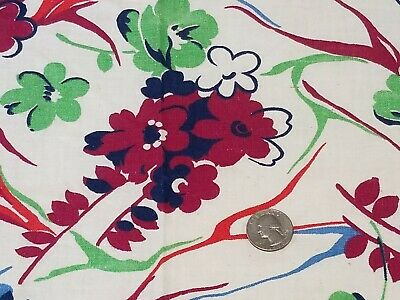 Vintage Full Feedsack: Richly Colored Floral