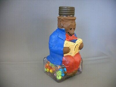 Antique Vintage Blowen Glass  Toy Learned Fox Candy Container Bottle Circa 1907
