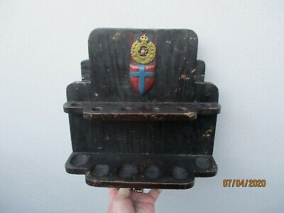 An Art Deco Wooden Royal Engineers Pipe Rack c1920s