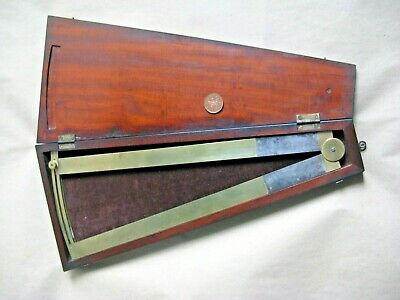 Antique clockmakers sector ,boxed 19th century