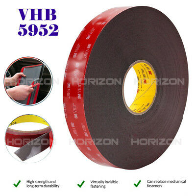 Genuine 3M VHB #5952 Double-sided Mounting Tape Adhesive Tape Automotive 6M/20FT