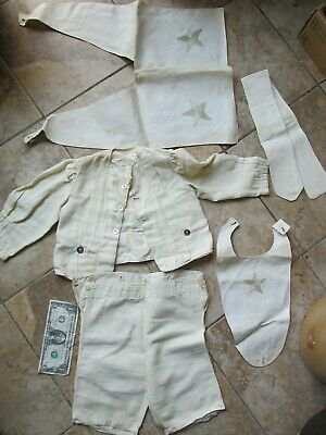 GORGEOUS IDENTIFIED Antique Child's Sailor Suit Outfit, 1900, Clothing, Costume