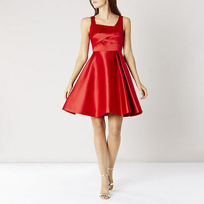 ex Coast Satin Fit& Flare Wedding Races Prom Formal Cocktail Occasion Dress SALE