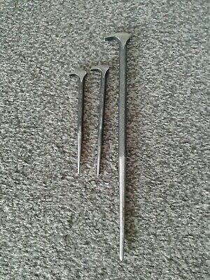 3 Snap on rolling head ladyfoot prybars