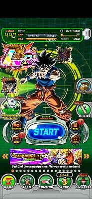 WHALE Dokkan Battle global with ui goku 50 LR many rainbow units both new ssj2