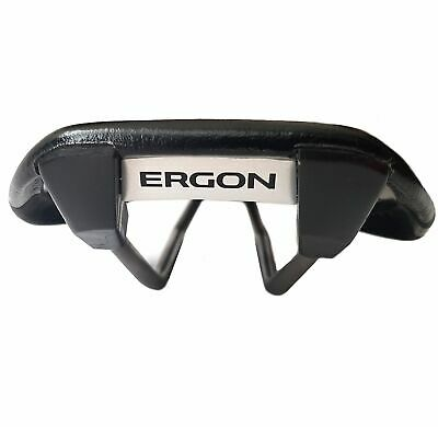 Ergon SR3-S Road Bicycle Saddle, TiNox Rails, 8oz Ultra Thin Black Made In Italy