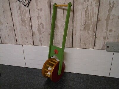 Vintage Classic Wooden Push Pull Along Toy Hand Made Collectable Old Wood Ware
