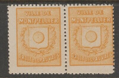 France Local mnh gum revenue fiscal stamp-4-29-
