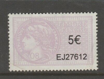 France revenue fiscal stamps-- 5-02-