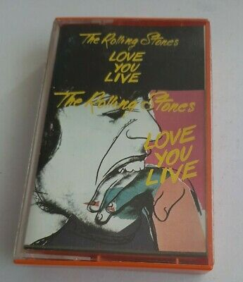 """The Rolling Stones """"love you live"""" - K7 / Cassette Audio / Tape."""