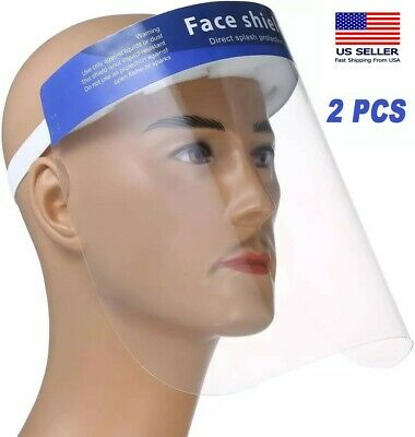 2Pcs Face Protective Shield Anti Fog Full Face Splash Proof Top Cap HD Clear Hat
