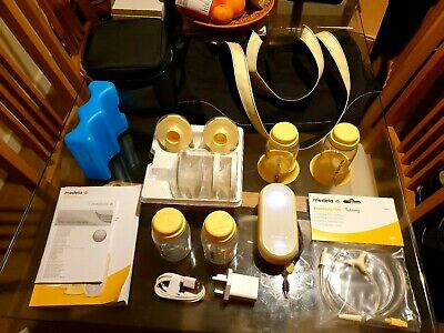 Medala Freestyle Flex Double Breast Pump and accessories