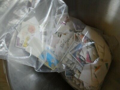 100 grams used British commonwealth stamps off paper