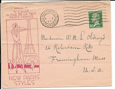 """France 1931 Rigaud Illustrated Envelope: """"New Paris Styles"""""""