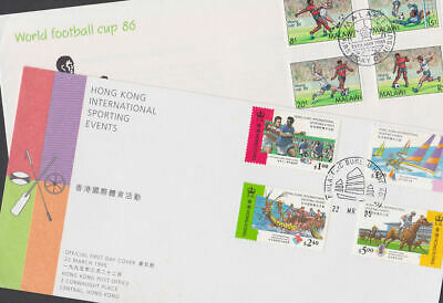 Sport 1986-99 FDC Covers World Cup Football Malawi Hong Kong Sport Events Rugby