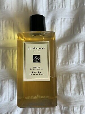 Jo Malone London Amber & Lavender 250ml Bath Oil New Unused Genuine
