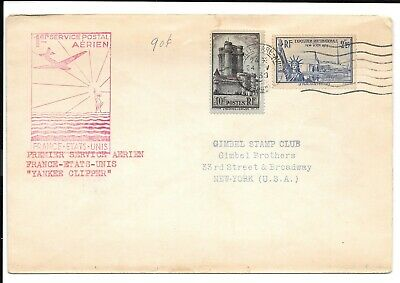France 1939 First Flight cover FFC to USA by Yankee Clipper